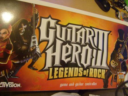 Caja Guitar Hero III para Wii