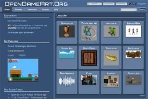 OpenGameArt screen