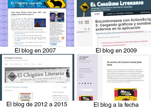 Diferentes diseños del blog