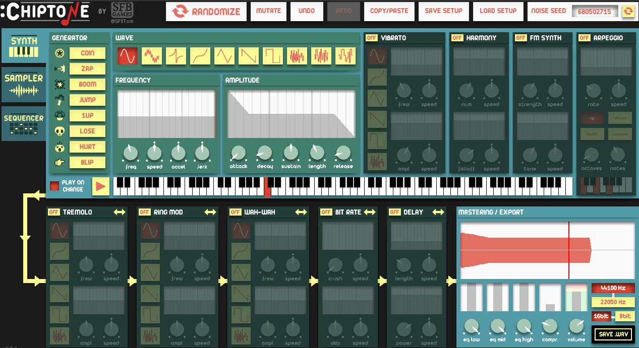 Screenshot de Chiptone