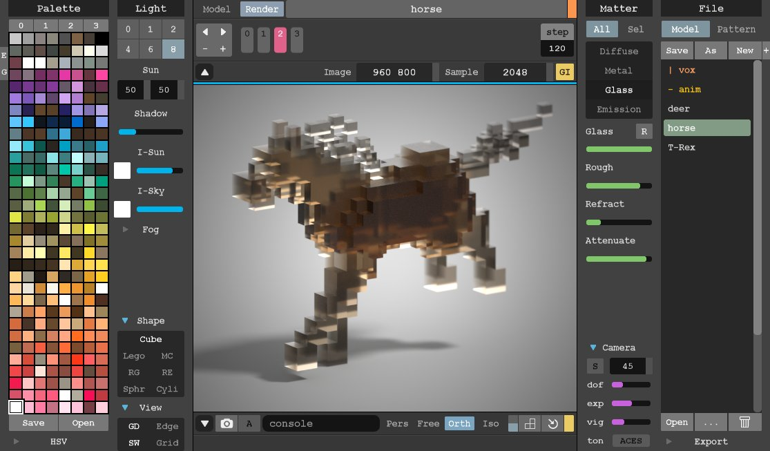 Screenshot de Magicavoxel