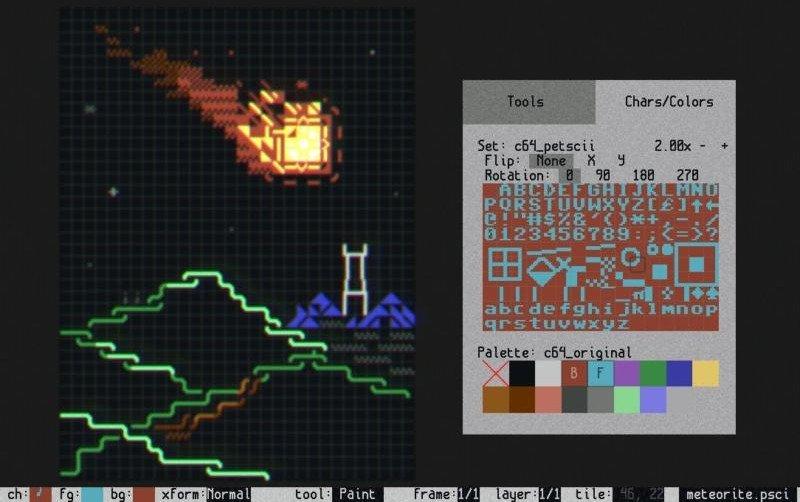 Screenshot de Playscii