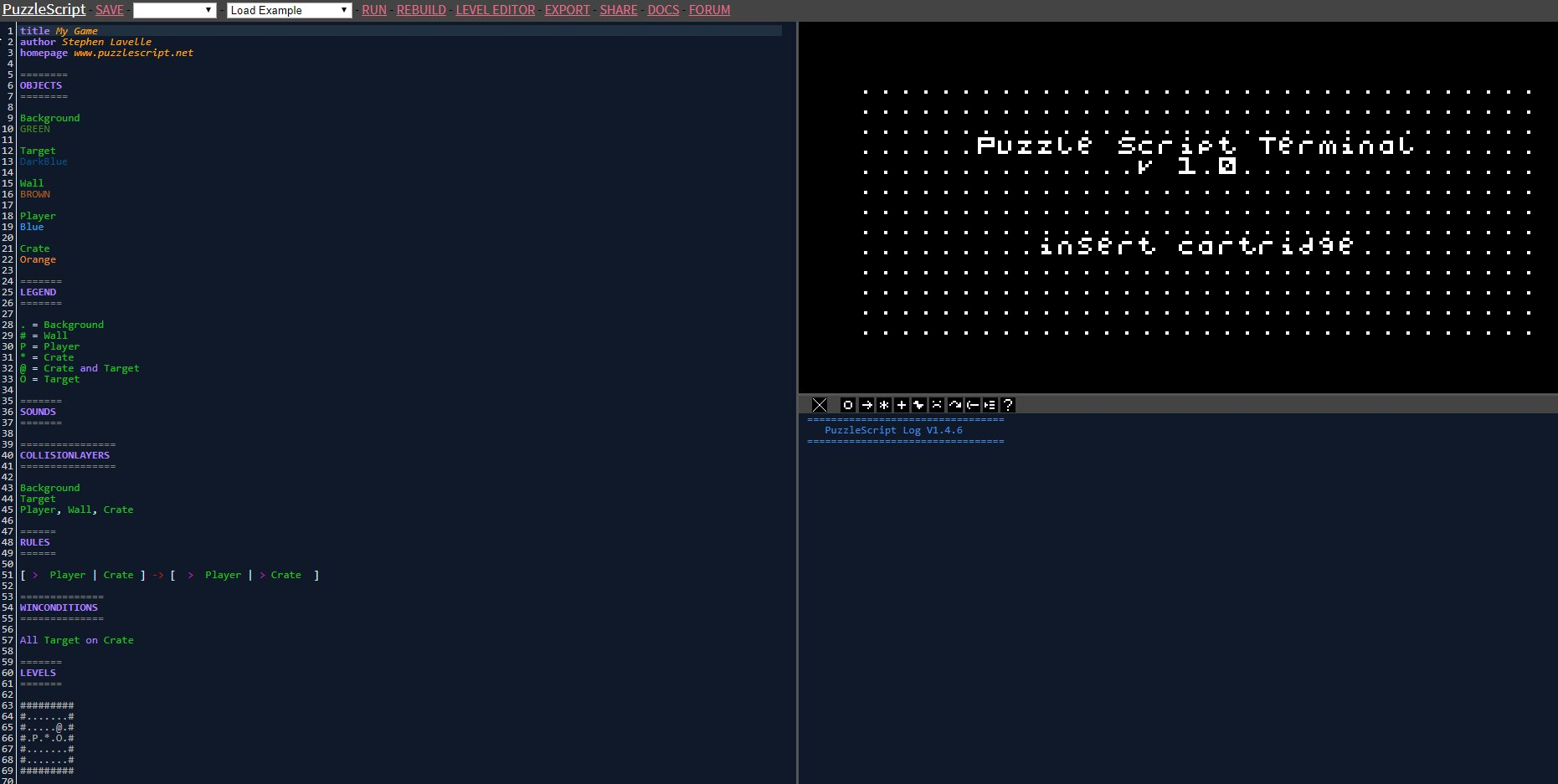 Screenshot de PuzzleScript