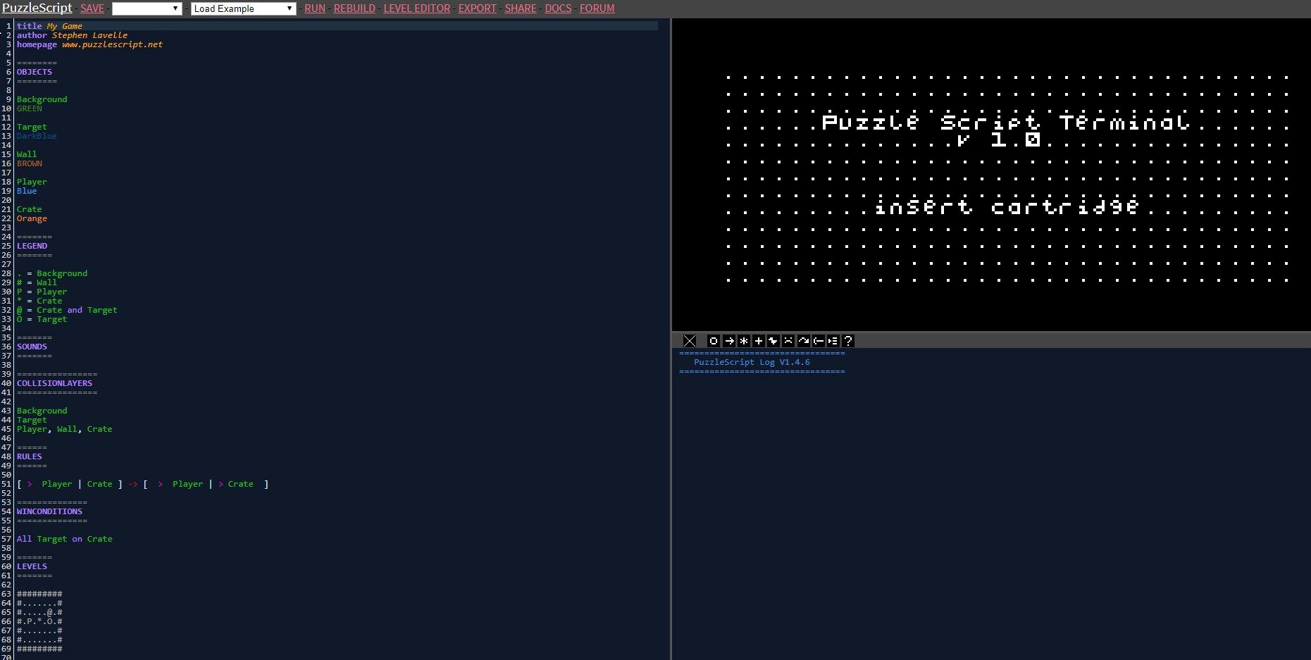 Screenshot de PuzzleScript